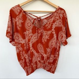 Paper Crane Antropology cropped top